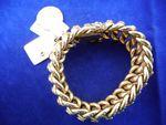 Bracelet or avec deux médailles et un pendentif pièce or 63g