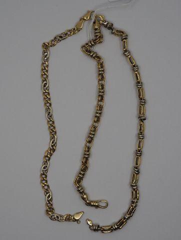 Lot de trois bracelets or jaune Pds 26 grs