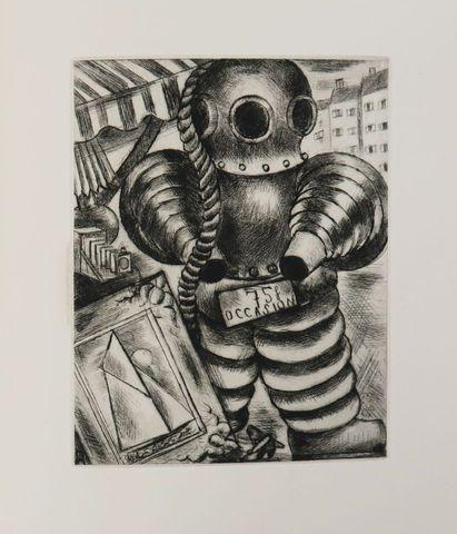 BUREAU (Noël). Marché aux puces. Paris, Marcel Seheur, 1930. In-4...