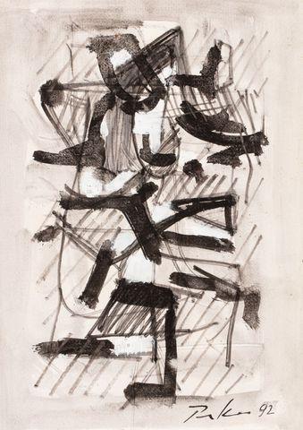 Bill PARKER (1922-2009) Composition Encre et rehauts de gouache b...