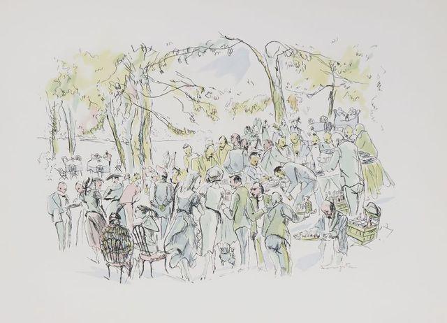 Collectif. Vins, fleurs et flammes. Paris, Bernard Klein, 1953. I...