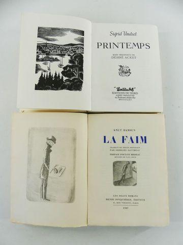HAMSUN (Knut). La Faim. Préface d'Octave Mirbeau. Paris, Les Beau...