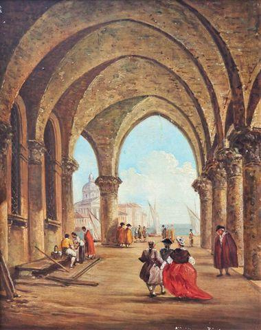 Ecole ITALIENNE dans le gout du XVIIIème siècle Venise Huile sur ...