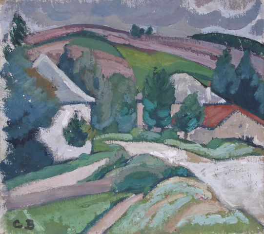 Charles Théodore BICHET (1863-1929)  Bugeat 1923  Huile sur toile...