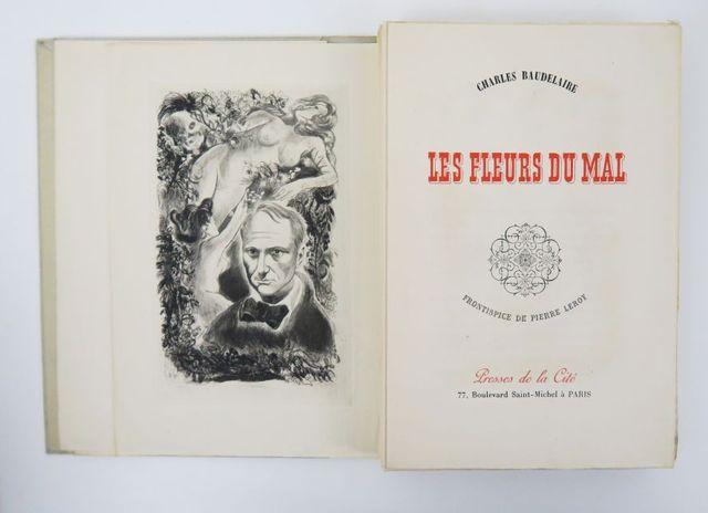 LEROY (Pierre) & BAUDELAIRE (Charles). Les Fleurs du Mal. Paris, ...