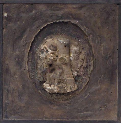 Louis PONS (1927) Un ange gardien Technique mixte en relief sur p...