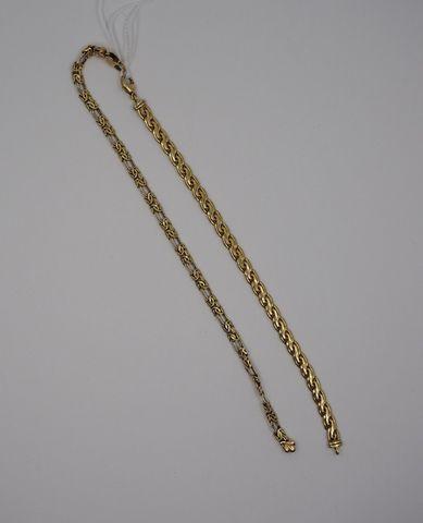 Lot de deux bracelets or jaune Pds 15 grs