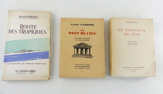 ROCHE (Camille) & FARRÈRE (Claude). Le pont du ciel, eaux fortes ...