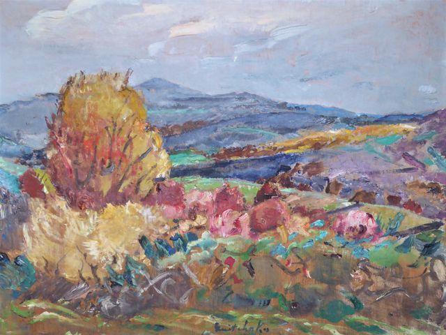 Alexis GRITCHENKO (1883-1977)  L'Automne de Peyrat-le-château  Hu...