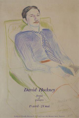 D'après David HOCKNEY (né en 1937) Jacques Bascher de Beaumarchai...
