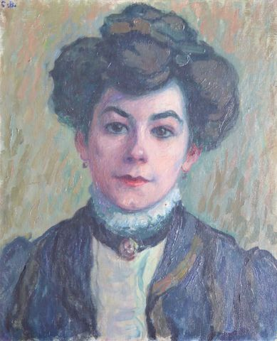 Charles Théodore BICHET (1863-1929)  Portrait de femme  Huile sur...