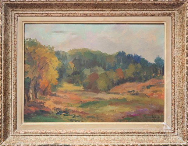 Louis SUIRE (1899-1987) Paysage de Creuse Huile sur toile signée ...