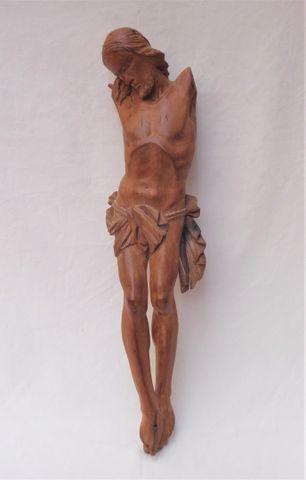 ITALIE XVIIIème / XIXème siècle Christ en bois sculpté H. 69 cm  ...