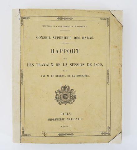 LAMORICIÈRE (Louis Juchault de, Général). Conseil supérieur des H...