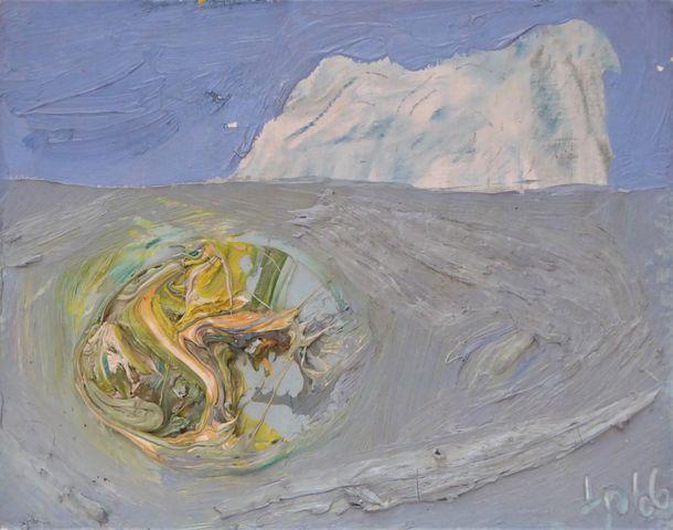 Jean-Robert IPOUSTEGUY (1920-2006) Composition 1966 Huile sur toi...