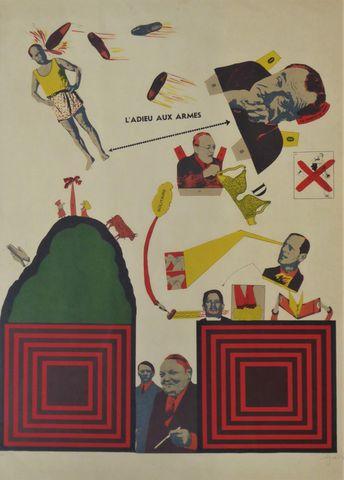 Antonio SEGUI (1934) L'adieu aux armes Lithographie couleurs, épr...