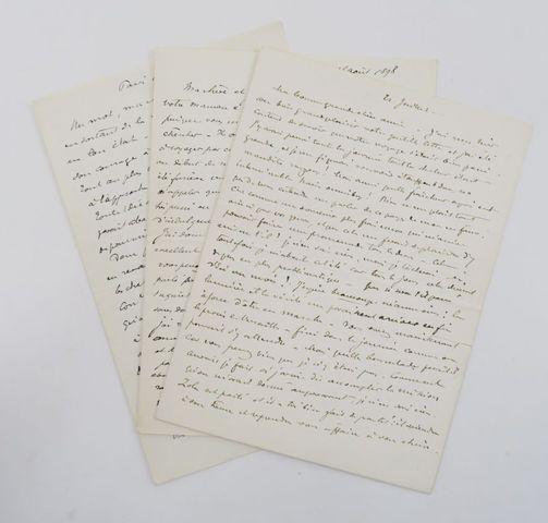 """Affaire DREYFUS - GAST (Edmond). 3 lettres autographes signées """"G..."""