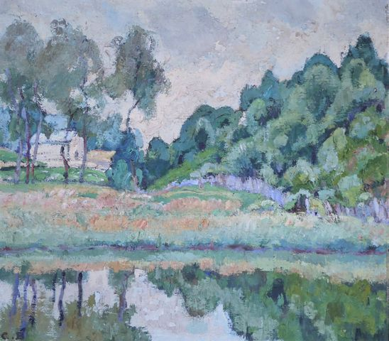 Charles Théodore BICHET (1863-1929)  Bugeat 1924  Huile sur toile...