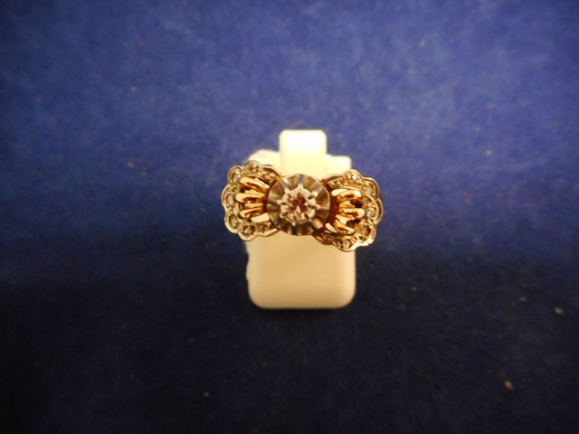 Bague or et brillant 4,9g. Tdd 53