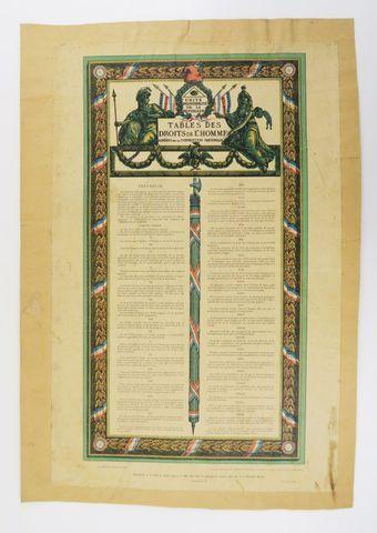 Constitution. Tables des Droits de l'Homme agréées par la Convent...