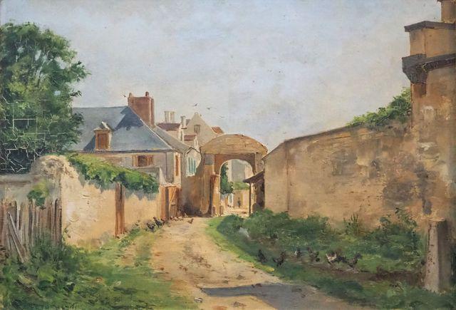 René Maurice FATH (1850-1922) Vue de village Huile sur toile sign...