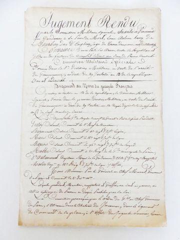 [ENGHIEN (Louis-Antoine-Henri de Bourbon-Condé, duc d')]. Copie m...