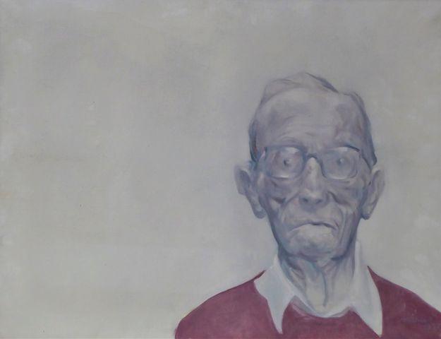 Patrick VARNIER (XXe) Portrait d'homme Huile sur toile signée en ...