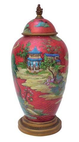 Camille FAURE (1874-1956) Exceptionnel vase couvert émaillé sur c...