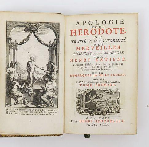 ESTIENNE (Henri). Apologie pour Hérodote, ou traité de la conform...