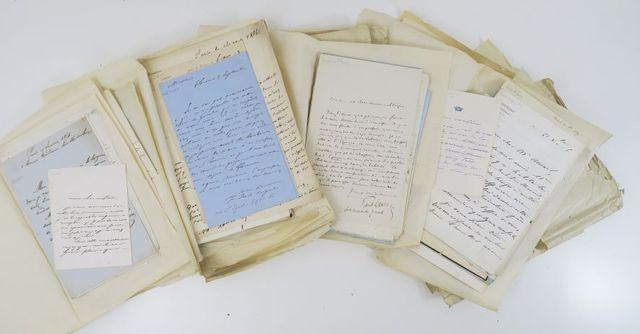 [EYMA (Xavier)]. Correspondance. Ensemble de 360 lettres, la plup...