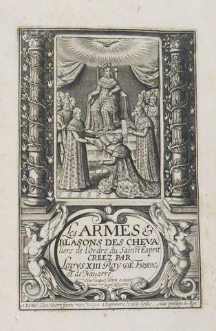 Héraldique - MORIN (Jacques). Les Armes et blasons des chevaliers...