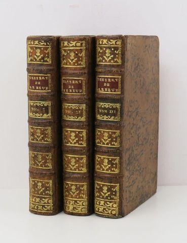 LEBEUF (Jean, Abbé). Dissertation sur l'histoire ecclesiastique e...