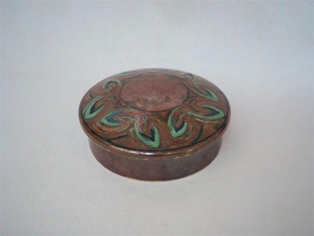 Camille THARAUD (1878-1956) Bonbonnière circulaire en porcelaine ...