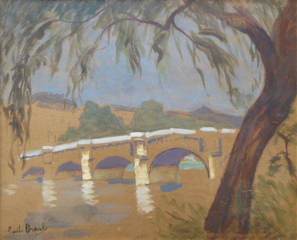 Marthe ORANT (1874-1957) Le Pont Neuf Huile sur carton signée en ...