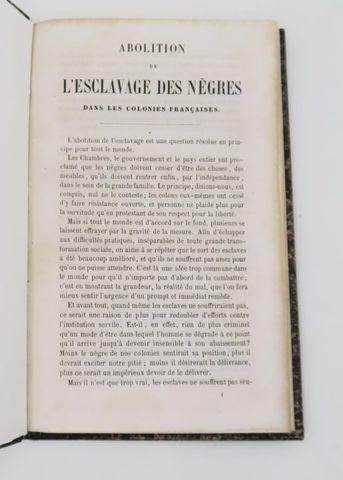 [SCHŒLCHER (Victor)]. Abolition de l'esclavage des Nègres dans le...