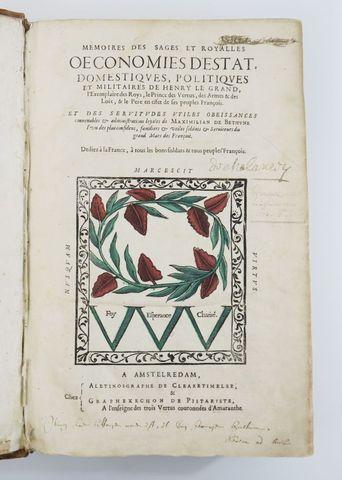 SULLY (Maximilien de Béthune, duc de). Mémoires des sages et roya...