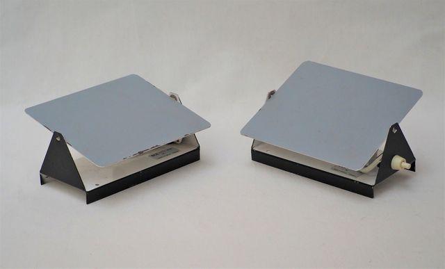 Charlotte PERRIAND (1903-1999) Paire d'appliques en métal laqué n...