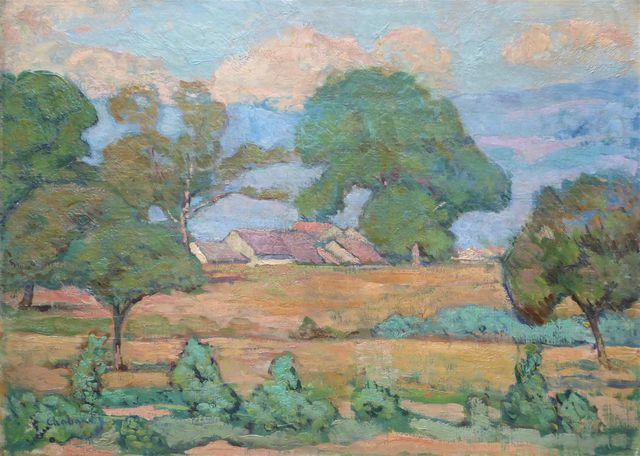 Raymond DE CHABAUD LA TOUR (1865-1930) Paysage Huile sur toile si...