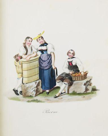 Suisse - MEYER (F.). Costumes suisses en miniature dessinés d'apr...