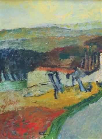 Jacques VAN DEN BUSSCHE (1925) Petit mas 1961 Huile sur toile sig...