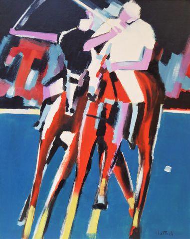 MALTREL (XXe) Les joueurs de polo Huile sur toile signée en bas à...