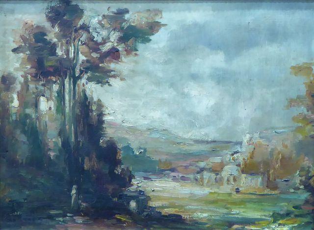 David GIRIN (1848-1917) Paysage 1906 Huile sur toile SBG 29 x 40 ...