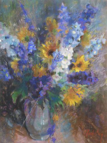 Suzanne Blanche KAEHRLING (1902-1985) Bouquet de fleurs Pastel su...