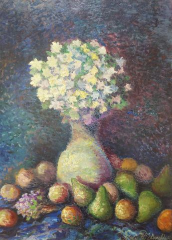 Nicolas Pavlovic RIABOUCHINSKY (1877-1951) Nature morte aux fruit...