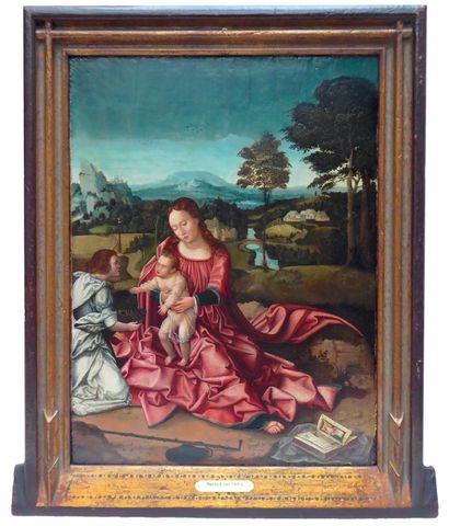 Ecole FLAMANDE vers 1530, atelier de Bernard van ORLEY Vierge à l...