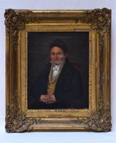 Ecole FRANCAISE XIXe siècle Portrait d'homme Huile sur toile 27 x...