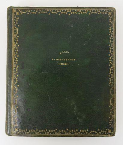 Manuscrit. Recueil de chansons Sl, sd [c.1830]. In-4 carré, [109]...