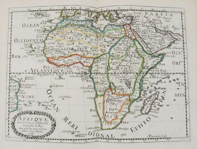 Afrique - SANSON d'ABBEVILLE (Nicolas). L'AFRIQUE en plusieurs ca...