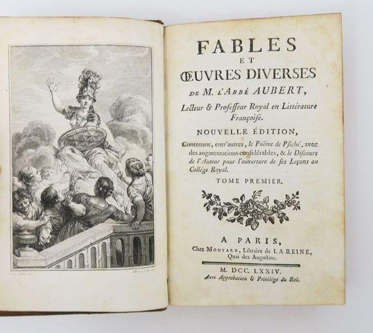 AUBERT (Jean-Louis). Fables et œuvres diverses. Paris, Moutard, 1...