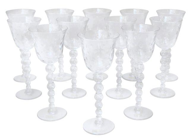 SAINT-LOUIS modèle Bubble  Service de verres en cristal comprenan...